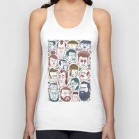 faces Tank Tops featuring Faces by Lawerta