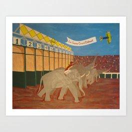 the Great Elephant Race Art Print