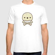 12# Skull White MEDIUM Mens Fitted Tee