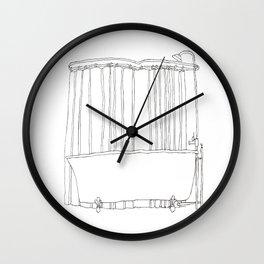 Bath In White Wall Clock