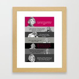 Joan Rivers - the greatest comedian  Framed Art Print