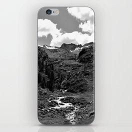 chairlift river kaunertal alps tyrol austria europe black white iPhone Skin