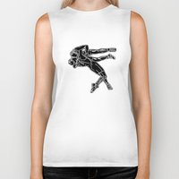 fight Biker Tanks featuring FIGHT by Tanya Pligina