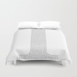 """Quote from Ayn Rand's """"Anthem"""" Duvet Cover"""