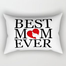 Best mom ever with face of a mother forming a heart- mothers day gifts for mom Rectangular Pillow