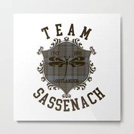 TEAM SASSENACH TARTAN Metal Print