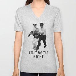 FIGHT FOR THE RIGHT Unisex V-Neck
