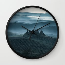 One cold day in Toscany Wall Clock