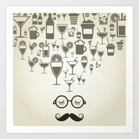 alcohol Art Prints featuring Alcohol by aleksander1