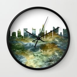 Columbus Skyline Ohio Wall Clock