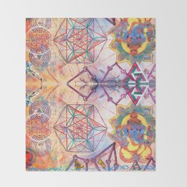 Hindu Geo Psych Throw Blanket