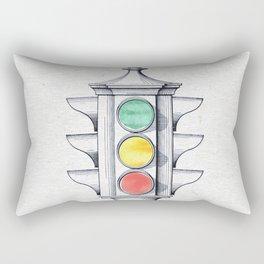 Traffic lights watercolor Rectangular Pillow