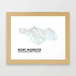 Mount Washington Alpine Resort, BC, Canada - Minimalist Trail Art Framed Art Print