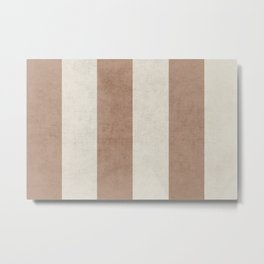 vintage natural stripes Metal Print