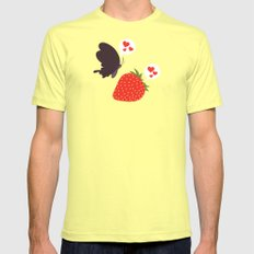 the death loves the strawberry Mens Fitted Tee SMALL Lemon