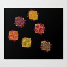 Magic Triad Black Canvas Print