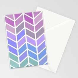 blue & purple chevron Stationery Cards