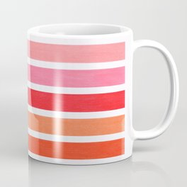 Pink & Orange Geometric Pattern Coffee Mug