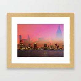 Skylines - New York Framed Art Print