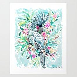 ROCCO the Palm Cockatoo Art Print