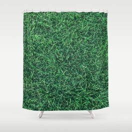 Green Grassy Texture // Real Grass Turf Textured Accent Photograph for Natural Earth Vibe Shower Curtain