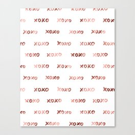 XOXO Fashion Love Rose Gold Pattern 2 Canvas Print