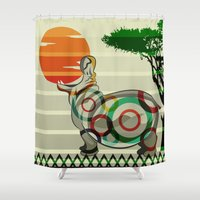 dreamer Shower Curtains featuring Dreamer by milanova