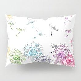 Rainbow dandelions Pillow Sham