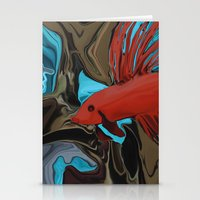 band Stationery Cards featuring Betta's Band by Distortion Art