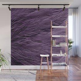 Grayish Purple Feathers Wall Mural