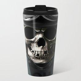 Skull graphic design Metal Travel Mug
