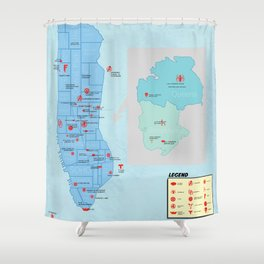 New York City- A Comic Book Tour Shower Curtain