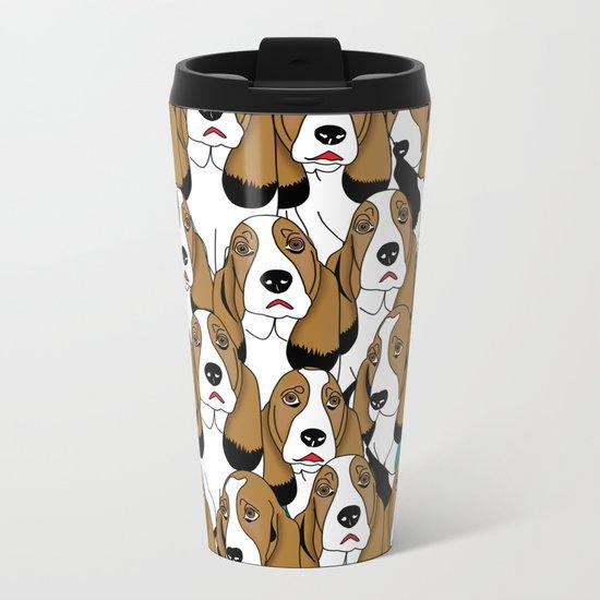 cute dogs Metal Travel Mug