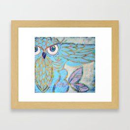 Owl - Colour Me Happy Framed Art Print