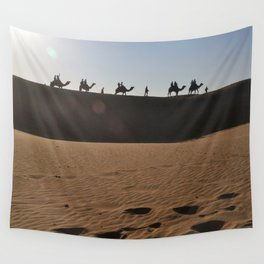 Camel Safari in Thar Wall Tapestry