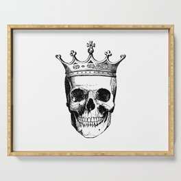 Skull King | Skull with Crown | Black and White | Serving Tray