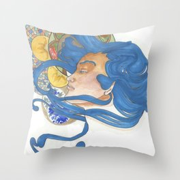 Teenage Rheam  Throw Pillow