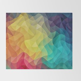 Abstract Color Wave Flash Throw Blanket