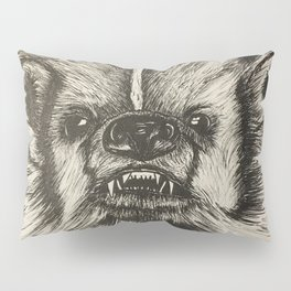 Badger Bad Original b/w ink Pillow Sham
