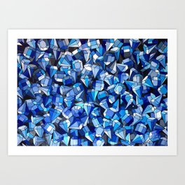 Fond Bleu Art Print