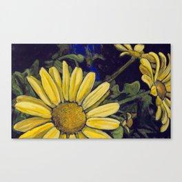 Royal Yellow Gerbera Daisies Canvas Print