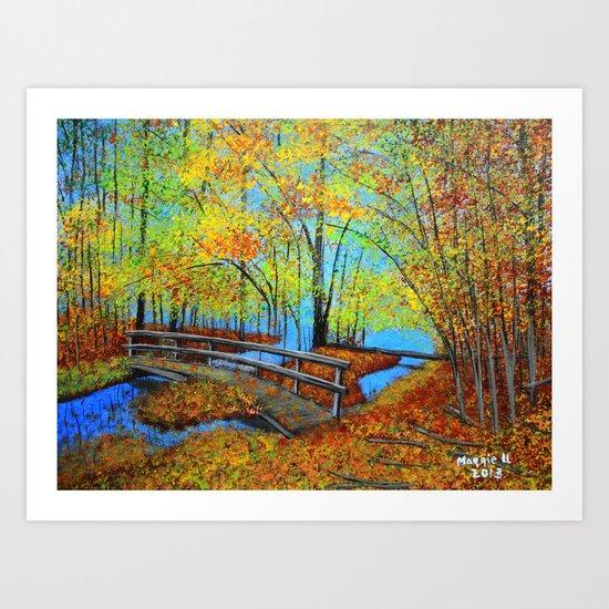 Autumn landscape 4 Art Print