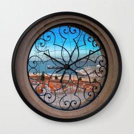 Lisbonne vue d'en haut Wall Clock