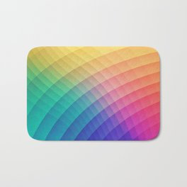 Spectrum Bomb! Fruity Fresh (HDR Rainbow Colorful Experimental Pattern) Bath Mat