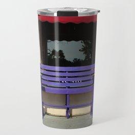 Whimsical Purple Bench Travel Mug