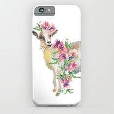 goat with flower crown iPhone 6s Slim Case
