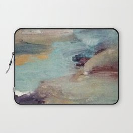Gentle Beauty [5] - an elegant acrylic piece in deep purple, red, gold, and white Laptop Sleeve