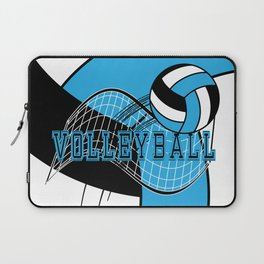 Volleyball Sport Game - Net - Baby Blue Laptop Sleeve