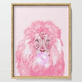 Lion Chewing Bubble Gum in Pink Serving Tray