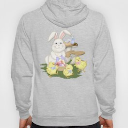 White Rabbit and Easter Friends Hoody